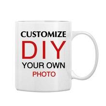 LIQU Personalized coffee mug add your photo logo or text 11oz DIY gift