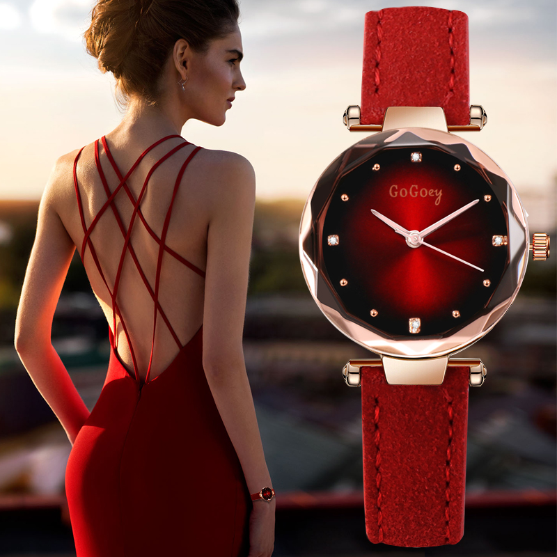 New Womens Watches Luxury Dress Relojes Crystal Gogoey
