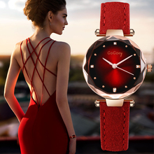 Neue Frauen Uhren Luxus Kleid Uhren Kristall Gogoey Frauen Elegante Quarz Armbanduhr Mujer Pu Leder Uhr Feminino Relogio