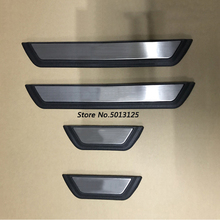 Stainless Steel Auto Door Sill Scuff Plate Guard Welcome Pedal Cover Stickers Car Accessories For Mazda CX5 CX-5 2017 2018 fit for mazda cx 5 cx5 2017 2018 stainless steel car body scuff strip side door molding streamer cover trim car accessories 4pcs