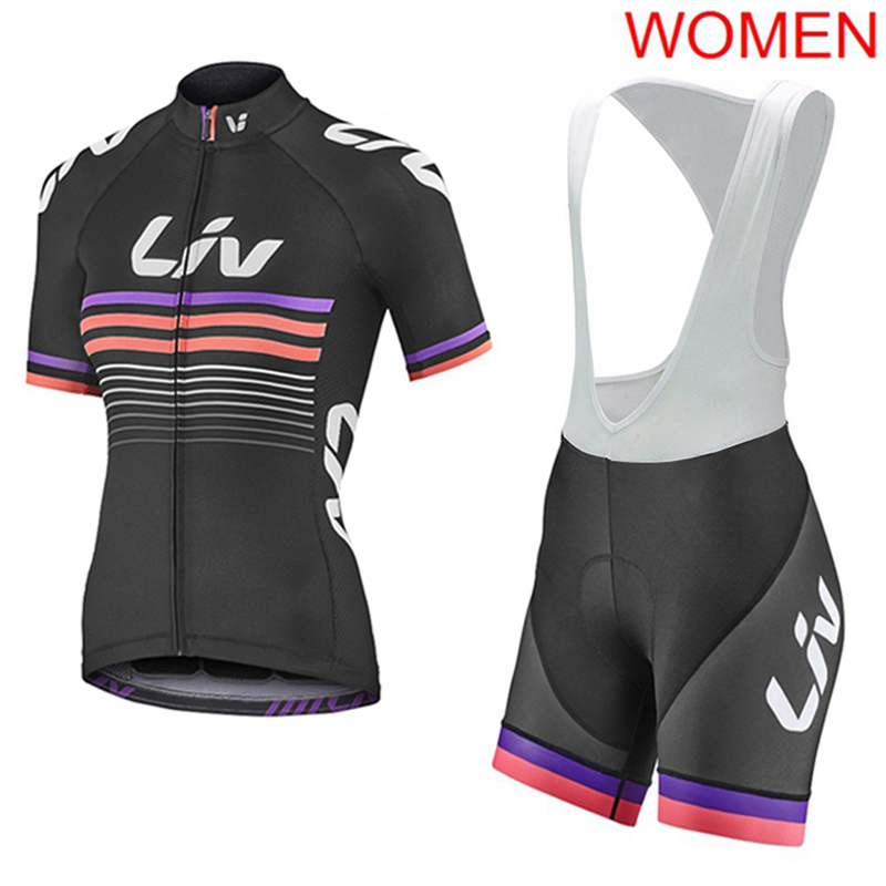 Women Cycling Jersey 2019 Pro Team Bicycle Tops Bib Shorts Suit Summer Quick Dry Mtb Bike Clothing Outdoor Bike Uniform Y052102