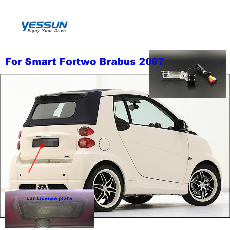 Yessun HD CCD Night Vision Car Rear View Reverse Backup Camera Waterproof For Smart Fortwo Brabus 2007