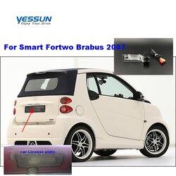 Yessun HD CCD noktowizor widok z tyłu samochodu kamera cofania wodoodporna dla Smart Fortwo Brabus 2007 w Kamery pojazdowe od Samochody i motocykle na