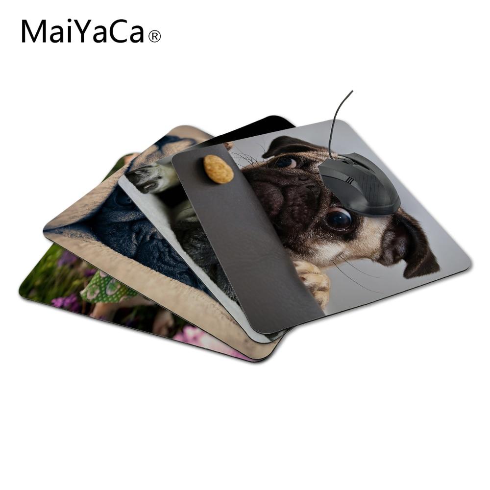 MaiYaCa muoti räätälöity söpö mopsi koirakoira Hiirimatto korvanpoistoa kestävä kumi hiirimatto PC Optal hiirelle