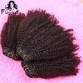 7A Unprocessed Human Brazilian Hair Weave Bundles 3 Pcs Lot Brazilian Curl Coily Virgin Hair No Shedding No Tangle Can Be Dyed