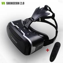"""VR Shinecon II 2.0หมวกกันน็อคแว่นตาเสมือนจริงโทรศัพท์มือถือ3Dวิดีโอภาพยนตร์สำหรับ4.7-6.0 """"โทรศัพท์+ควบคุมระยะไกล"""