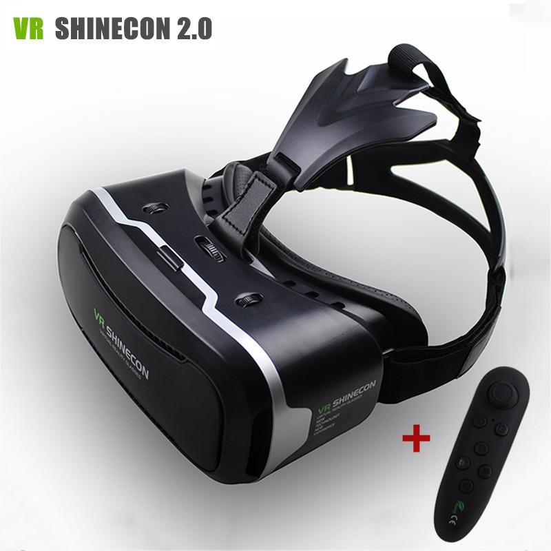 "<font><b>VR</b></font> <font><b>Shinecon</b></font> II 2.0 <font><b>Helmet</b></font> <font><b>Virtual</b></font> <font><b>Reality</b></font> <font><b>Glasses</b></font> Mobile Phone 3D <font><b>Video</b></font> Movie for 4.7-6.0"" phone + Remote Controller"