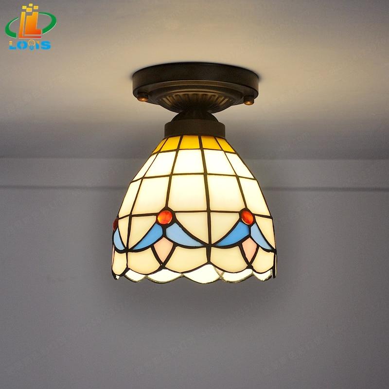 Us 353 Proste Nowoczesny Pokój Małe Lampy Tiffany Sufitowe Balkon Korytarzy I Kuchnia Lampa Szkło Mody Sztuki Oświetlenie W Oświetlenie Sufitowe Od