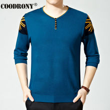 Free Shipping High Quality Button V-Neck Wool Sweater men Cashmere Pullover Men Brand Clothing Fashion Pattern Autumn Pull 66104