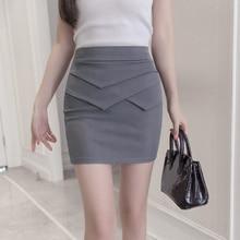 Plus Size 3XL New OL Women Elastic Formal Skirts Summer High Waist Sexy Package Hip Skirt Female Fashion Mini Pencil Skirt