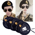 2017 New Metal Emblem Men Women Star Beret Military Hats Adjustable Costume Party Cosplay Perform Stage Props Navy Cap 18 Styles