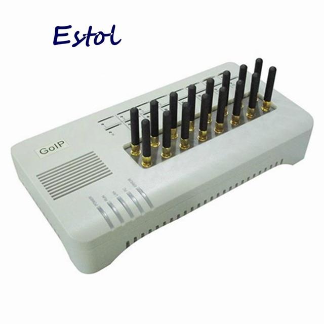 Original DBL GOIP16 Quad band VOIP GSM Gateway 16 Channel GOIP 16 GOIP 16 IMEI change sim bank Routes 16 SIM Cards SMS VOIP
