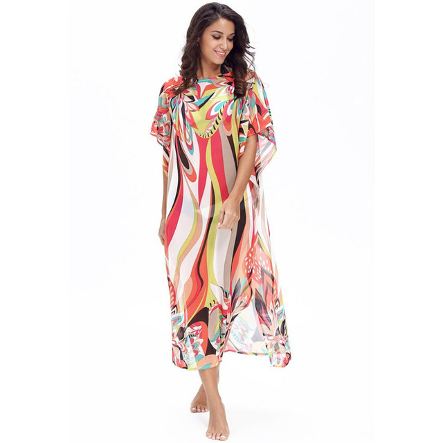 80bf54e6a66 Bohemia-Style-Summer-Women-Long-Beach-Dress-Colourful-Floral-Pattern-Printed- Sexy-See-Through-Chiffon-Dress.jpg 640x640.jpg