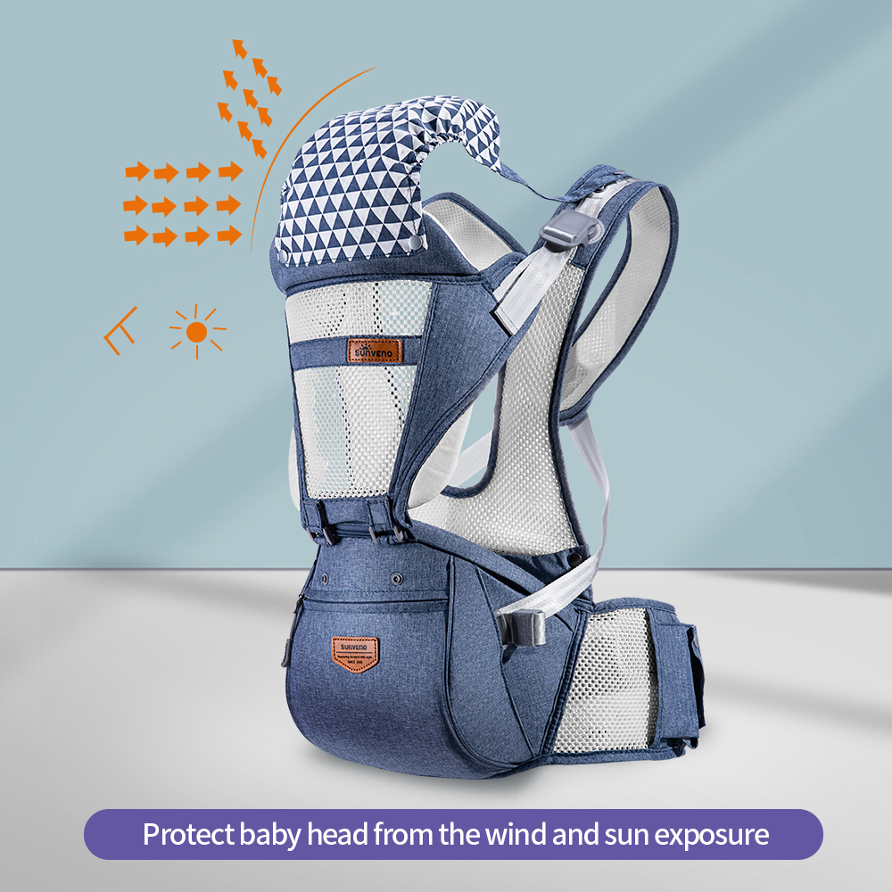 Image 3 - Sunveno Breathable Baby Carrier Ergoryukzak Front Facing Baby Carrier Comfortable Sling for Newborns-in Backpacks & Carriers from Mother & Kids