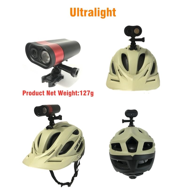 HD 1080P велосипедная фара для верховой езды, рекордер для вождения, профессиональный шлем DVR, свет, Wifi экшн камера, MTB дорожный велосипед, передн... - 4
