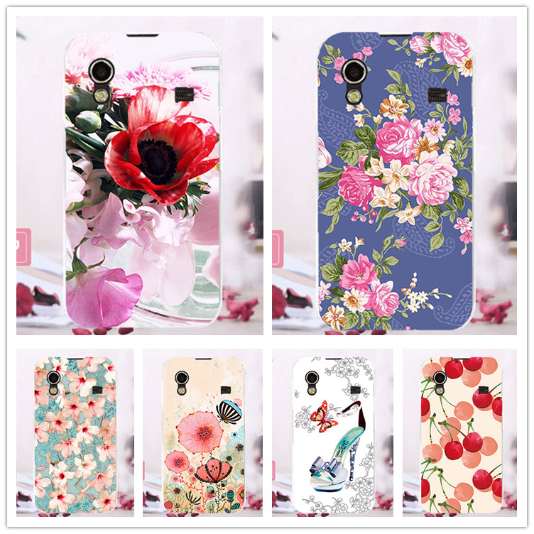 For Samsung S5830 Cases Luxury Diy UV Painting Colored Flower Fruit Hard PC Case For Samsung Galaxy Ace S5830 S5830i Cover Sheer