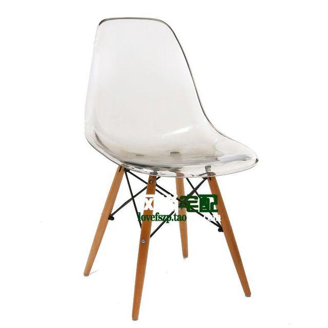 Silla Eames crystal clear acrylic sillas de plástico IKEA de comedor ...