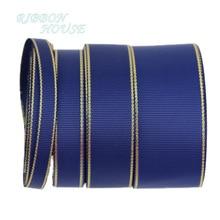 (10 ярдов/партия) Deep Blue Gold окантованная корсажная лента оптовая продажа подарочная упаковка рождественские ленты