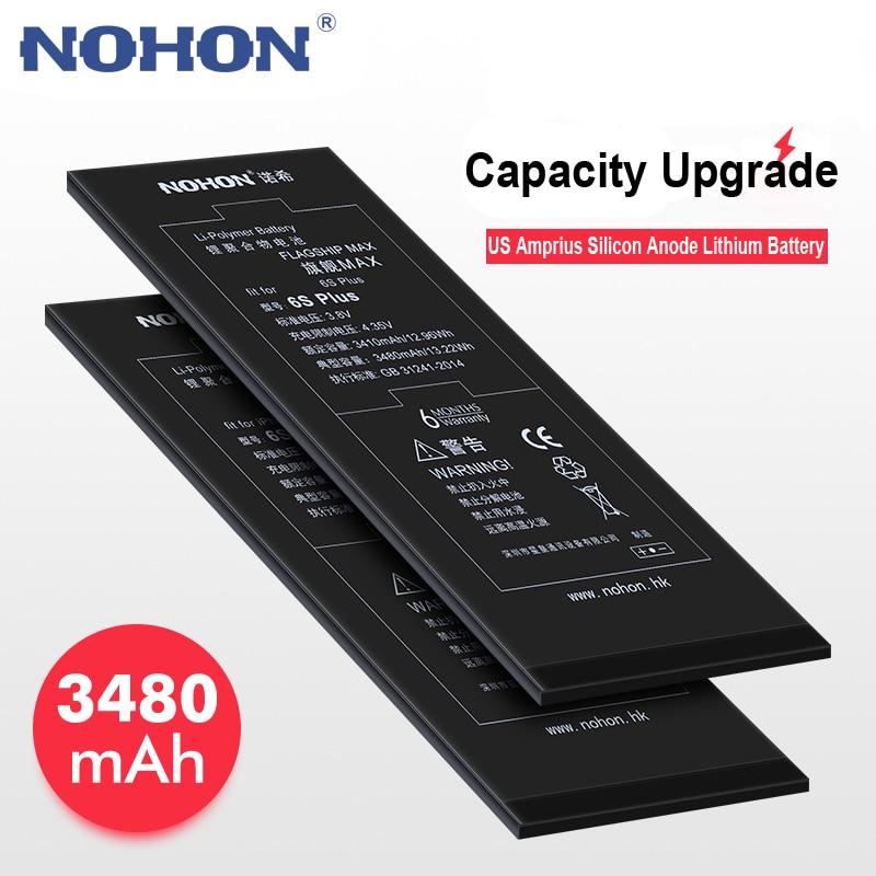 Batterie d'origine pour iPhone 6 SPlus 6 S Plus Bateria Li-ion Batarya 3480 mAh batterie outils gratuits paquet de détail