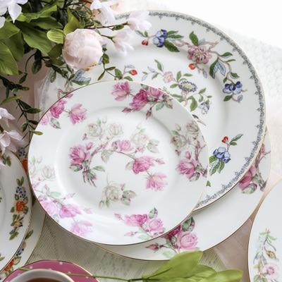 Exportation os chine plats occidentaux créatif Steak plaque en céramique salade fruits plaque maison hôtel ensemble Table modèle disque vaisselle