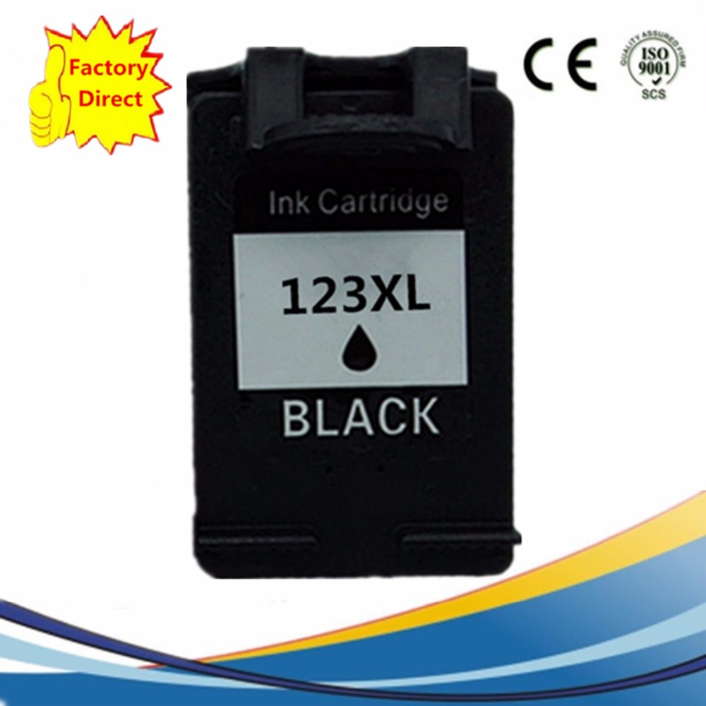 2 Pcs 123xl Cartucho De Tinta Compatvel Para H Deskjet Dj2130 Hp Printer 1112 Black Ink Cartridges Remanufactured For 123 Xl Hp123 Hp123xl 1110 1111 2130