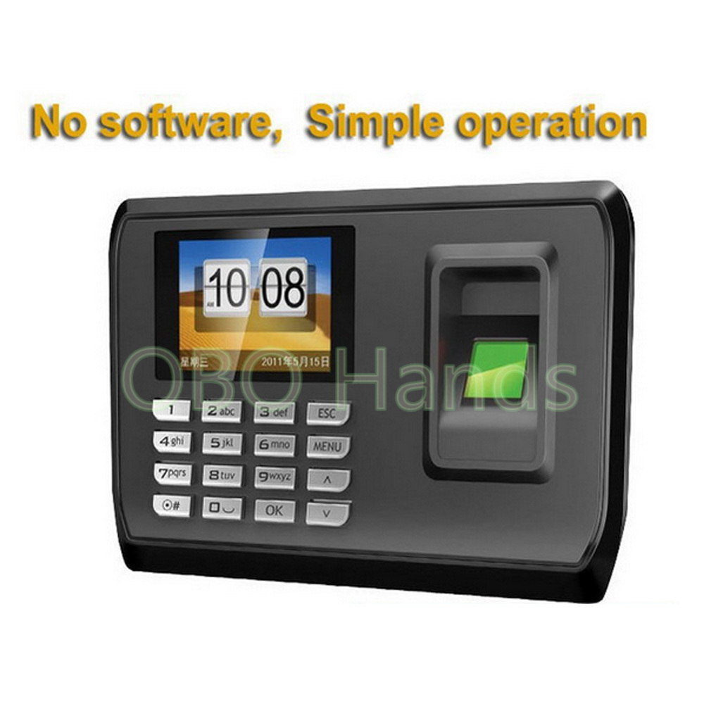Hot sale!Biometric Fingerprint Time Clock Recorder Attendance Employee Machine With USB driver flash