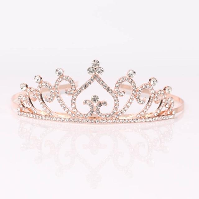 Bridal Wedding Crystal Tiara Headband Party Princess Prom Crown Kids Girl Hairband Hair Accessiories KQS8