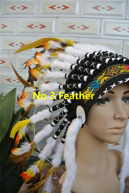 Orange Indian feather Headdress American costume indian chief feather war bonnet halloween costume party event decor  sc 1 st  AliExpress.com & Orange Indian feather Headdress American costume indian chief ...