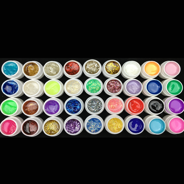 Burano 36W UV Lamp & 36 Colors UV Gel Nail polish Art Tools polish nail Set Kit building gel manicure set a seto of tools