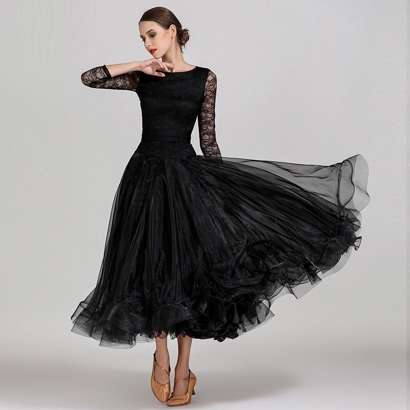 Robes de concours de danse de salon bleu robes de valse de salon de danse robe de danse standard femmes robe de bal vêtements de danse à franges