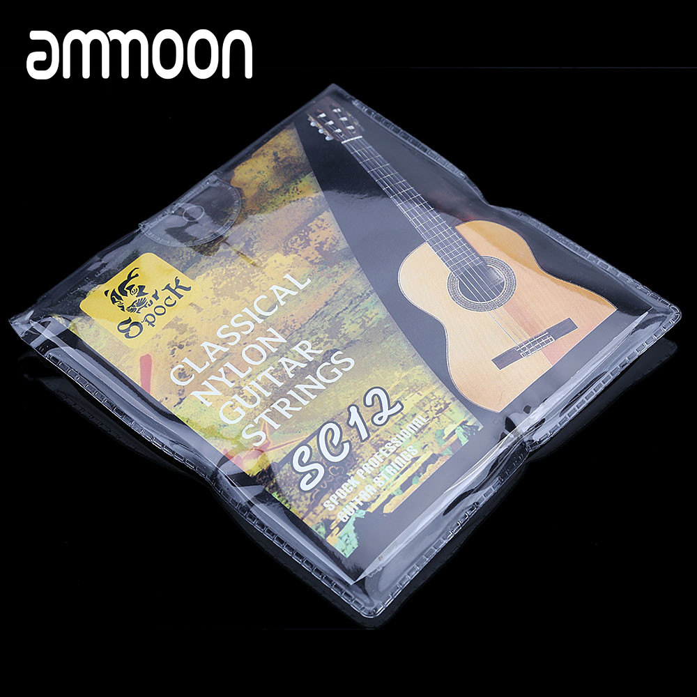 6pcs/set Guitar Strings Set Nylon Silver Plating Super Light for Classic Acoustic Guitar High Quality SC12 Guitar Strings(China)