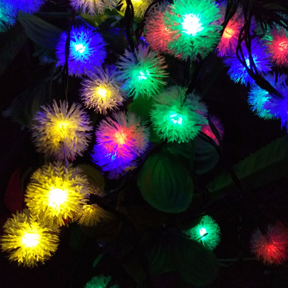 aliexpresscom buy 7m solar christmas holiday snow flakes led string lights diy snowball outdoor waterproof party and event decor - Outdoor Solar Christmas Lights