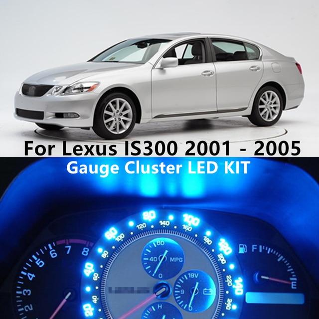 WLJH 7 цветов Светодиодная приборная панель Датчик кластера Спидометр приборной панели светильник лампа комплект для Lexus IS300 2001 2002 2003 2004 2005