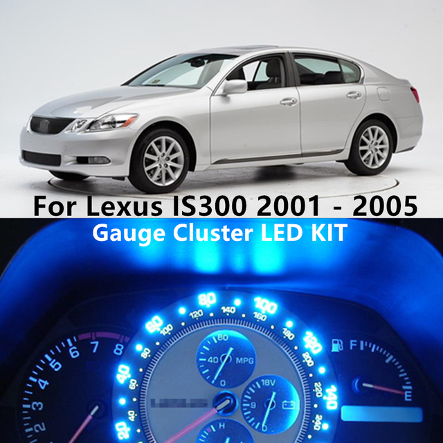 WLJH 7Colors Led Instrument Panel Gauge Cluster Speedometer Dashboard Light Bulb Kit for Lexus IS300 2001 2002 2003 2004 2005