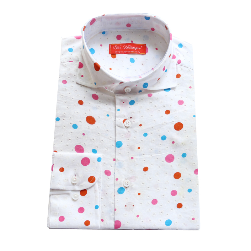 Online Buy Wholesale red polka dot shirt men from China red polka ...