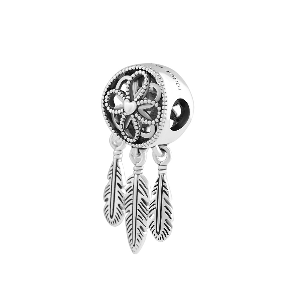 de5b92c99 2018 New summer Spiritual Dream catcher Charms 925 sterling silver beads  fit Pandora bead Bracelets Necklace DIY for women -in Beads from Jewelry ...
