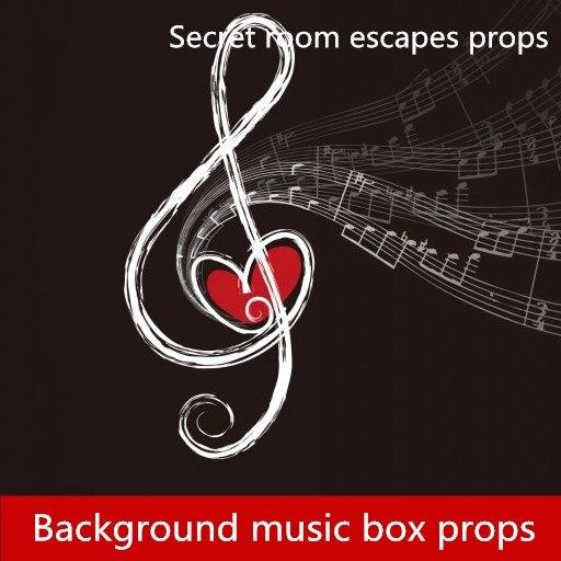 Accessoires de salle d'évasion jeu de salle d'évasion plusieurs arrière-plan musique débloquer accessoires d'orgue boîte à musique accessoires de produit fini
