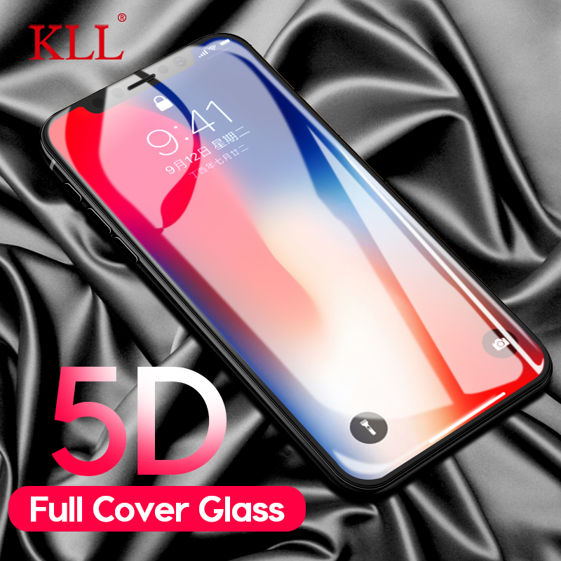 5D Full Cover Tempered Glass For IPhone 8 7 Plus(3D 4D Upgraded Version) For IPhone X 6 6S Plus Screen Protector Protective Film