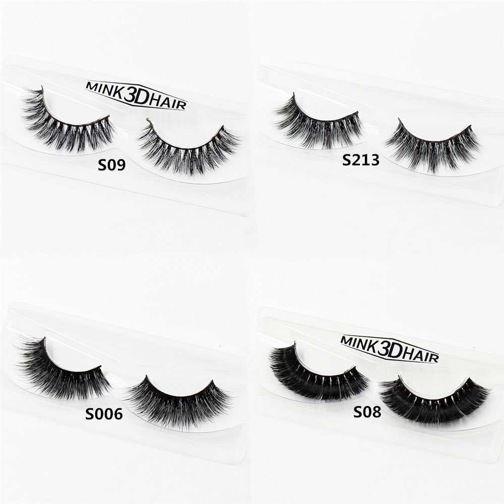 3D Mink Eyelashes Real Mink Natural Thick Cross Eye Lashes Makeup Extension Beauty Tools  S Series