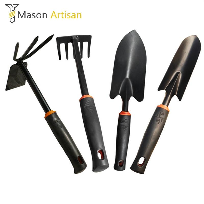 4pcs 30cm garden tool set shovel cultivator trowel leaf for Gardening tools 6 letters