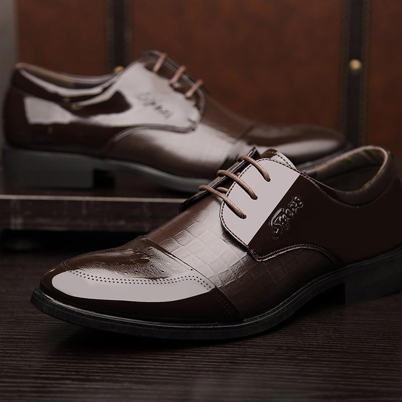 Rendas Homens Clássico Couro Casamento Macio Sapatos Sapatas marrom Dos Aa50138 Até Negócios Para Preto Moda De Calçado Masculinos Vestido 5fwW117xqz