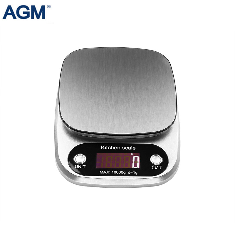 Fast Deliver Agm 10kg/1g Digital Kitchen Food Scale Balance Scale Stainless Steel Lcd Bench Weight Kitchen Scale Bascula Cocina Dropship Street Price Measuring Tools & Scales Home & Garden