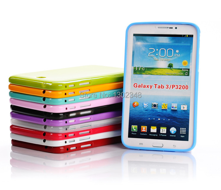 Candy Color Jelly Case Silicone Soft Back Cover Tablet Rubber Protect Case For Samsung Galaxy Tab 3 P3200 P3210 T210 T211 7 inch for ipad mini4 cover high quality soft tpu rubber back case for ipad mini 4 silicone back cover semi transparent case shell skin