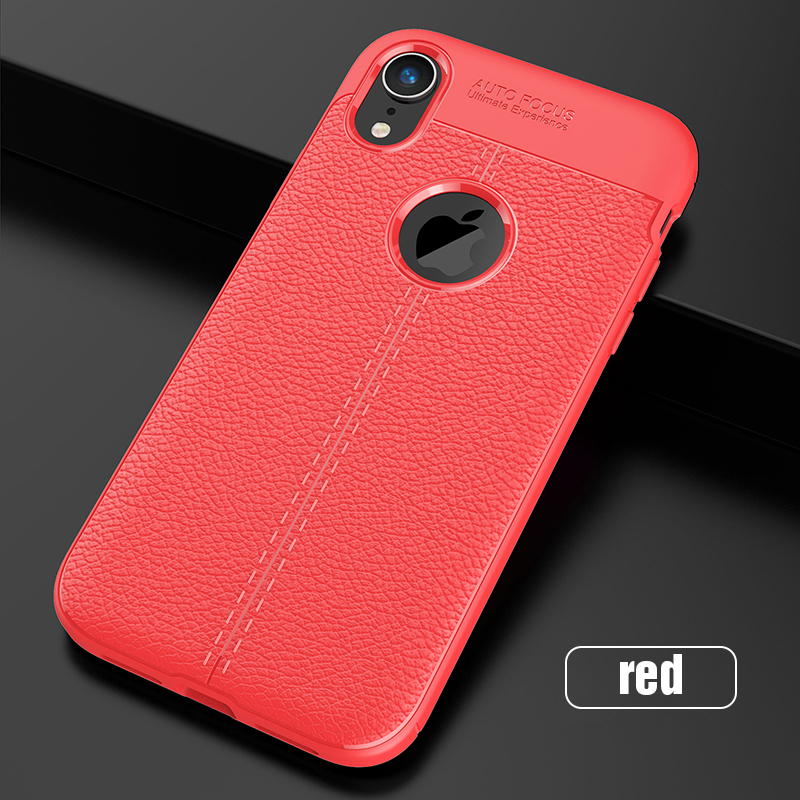 Carbon Silicone Case For iPhone Xs Xs Max Case 360 Luxury Leather Soft TPU Case For iPhone Xr Xs Max X 10 Case Coque             (17)