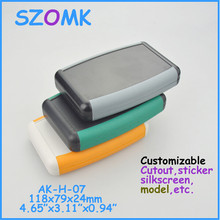 electrical handheld case (10pcs) abs plastic housing for pcb broad 118*79*24mm