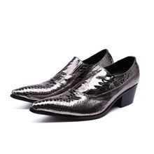 купить Italian mens shoes high heels patent genuine leather slip on oxford shoes for men male sapato social masculino couro dress shoe дешево