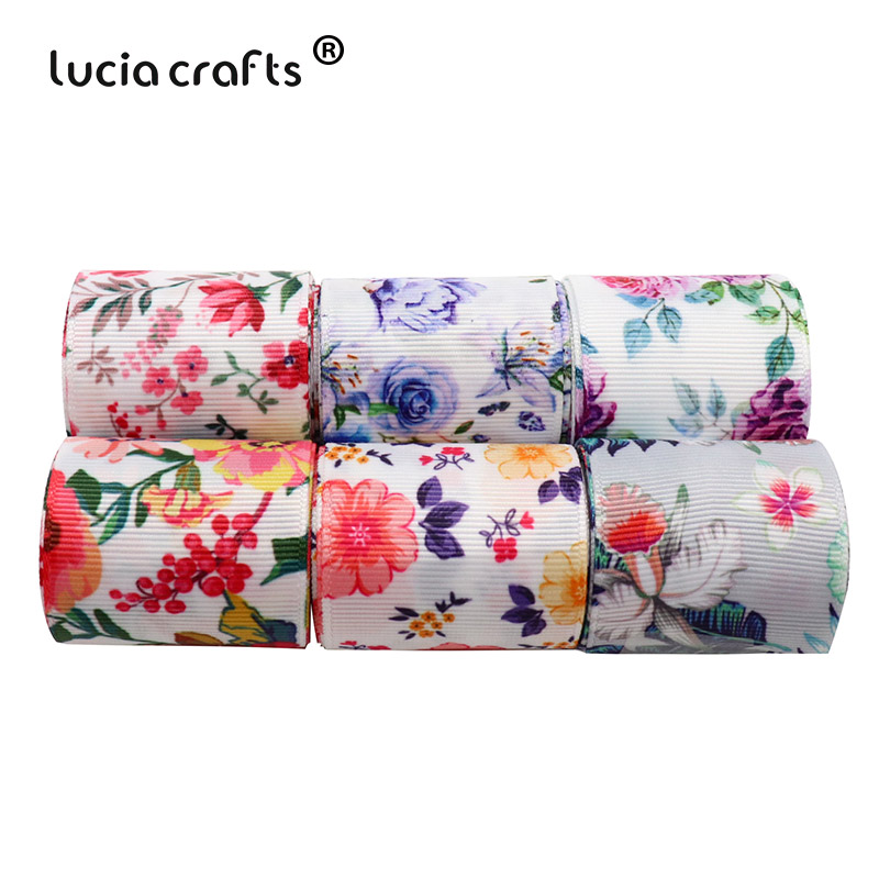Sewing Room Gift Wrapping Room: Aliexpress.com : Buy 2Yards 40mm Flower Printed Grosgrain