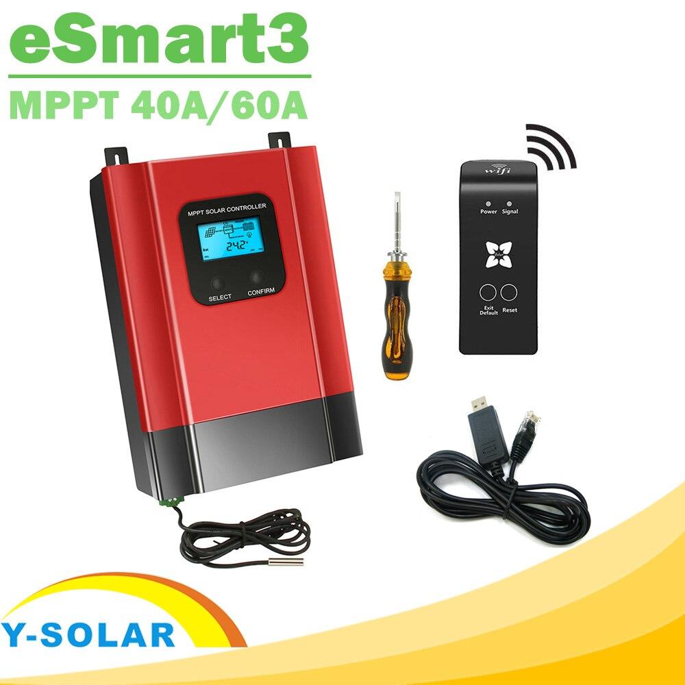 Y-SOLAR eSmart3 MPPT Solar Charge Controller 12V 24V 36V 48V Auto Max 150V PV Input Backlight LCD RS485 WIFI Mobile APP Control