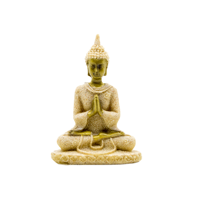 Small Sandstone Thailand Style FengShui Buddha Statue for office decoration  novelty households gifts Mini Buddhist Monks