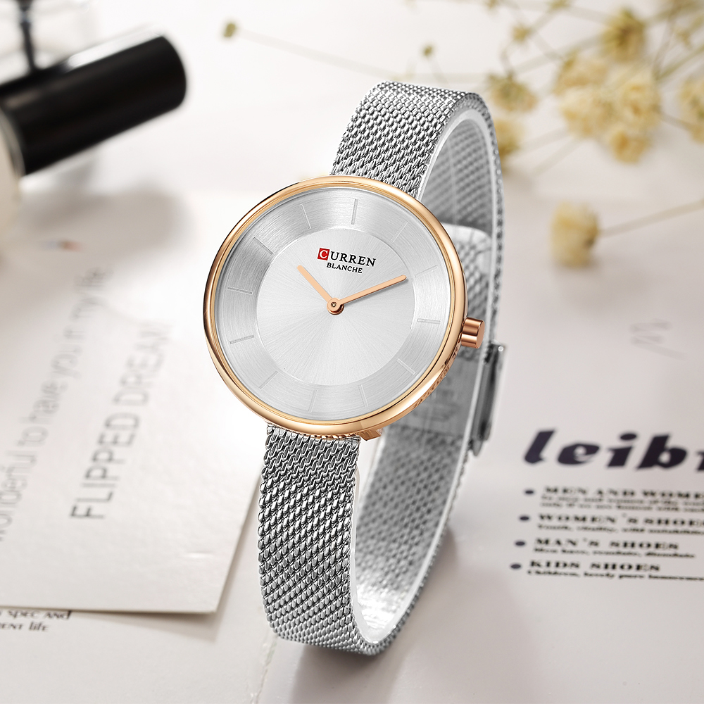 1cd0eb8952c CURREN New Mulheres Relógios Top Marca de Luxo Da Moda Senhoras Relógio de  Quartzo de Aço Inoxidável Mulher Criativa Relógio de Pulso Relogio feminino  em ...